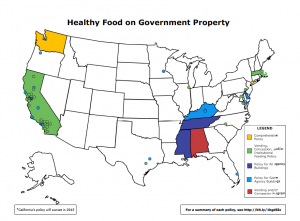 poster of US with mapped healthy vending posters