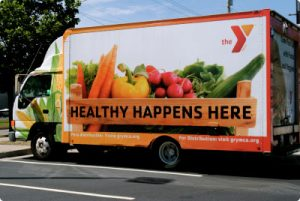 The Greater Grand Rapids YMCA has introduced a mobile healthy food van that travels to low-access areas.