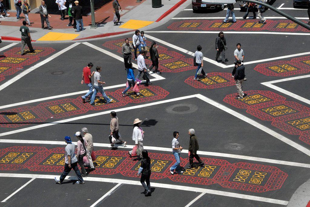 Pedestrian Scramble, Oakland, CA photo credit
