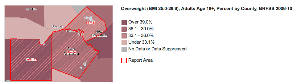 overweight report data