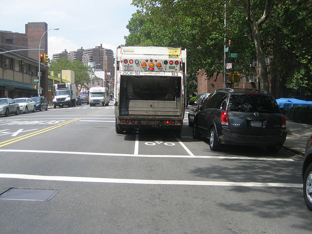 Painted bike lane New York City. photo credit: Gregory H under a Creative Commons license.