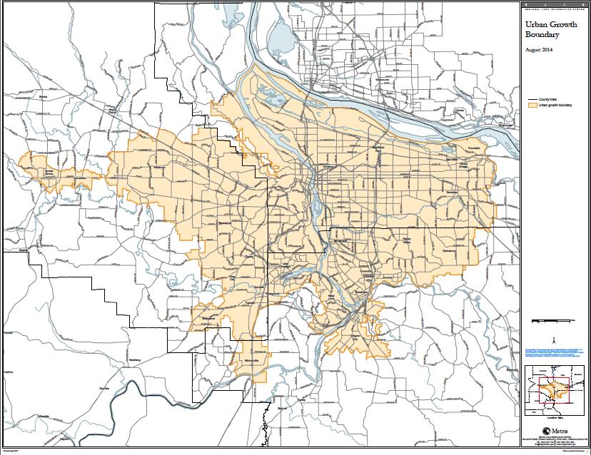 Portland's Urban Growth Boundary, Aug. 2014