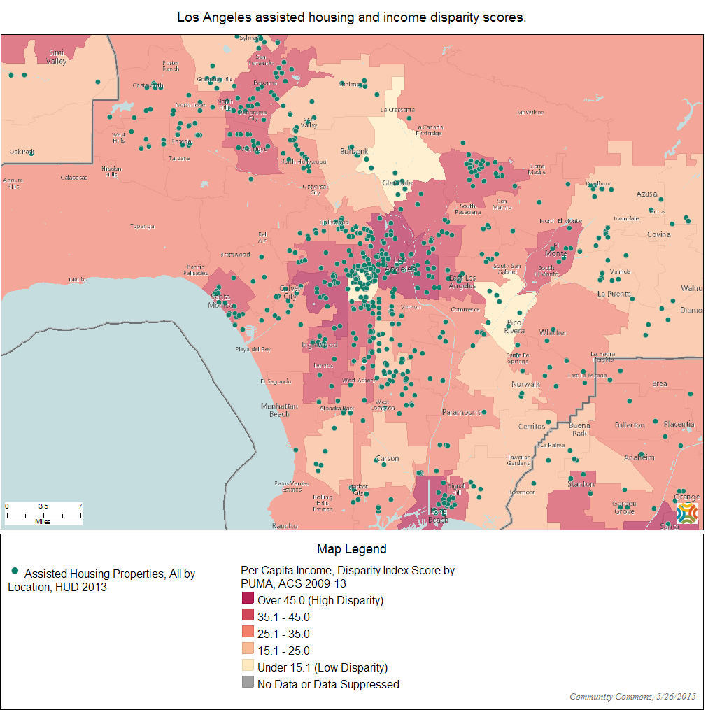 Los Angeles Income Data