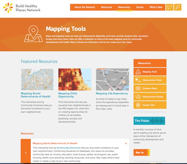 Mapping Tools page