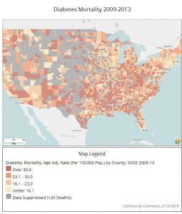 Map: Diabetes Mortality