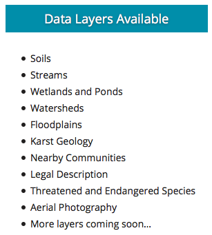 AgSite Data layers