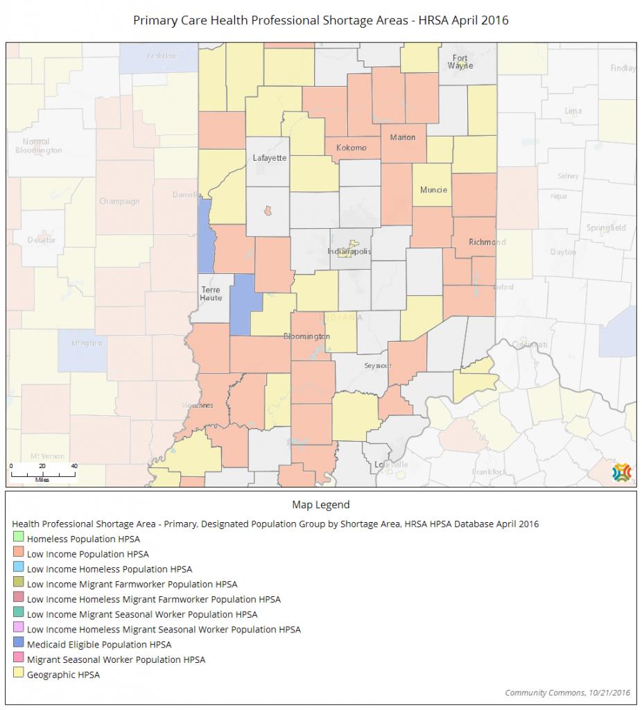 HPSAs map