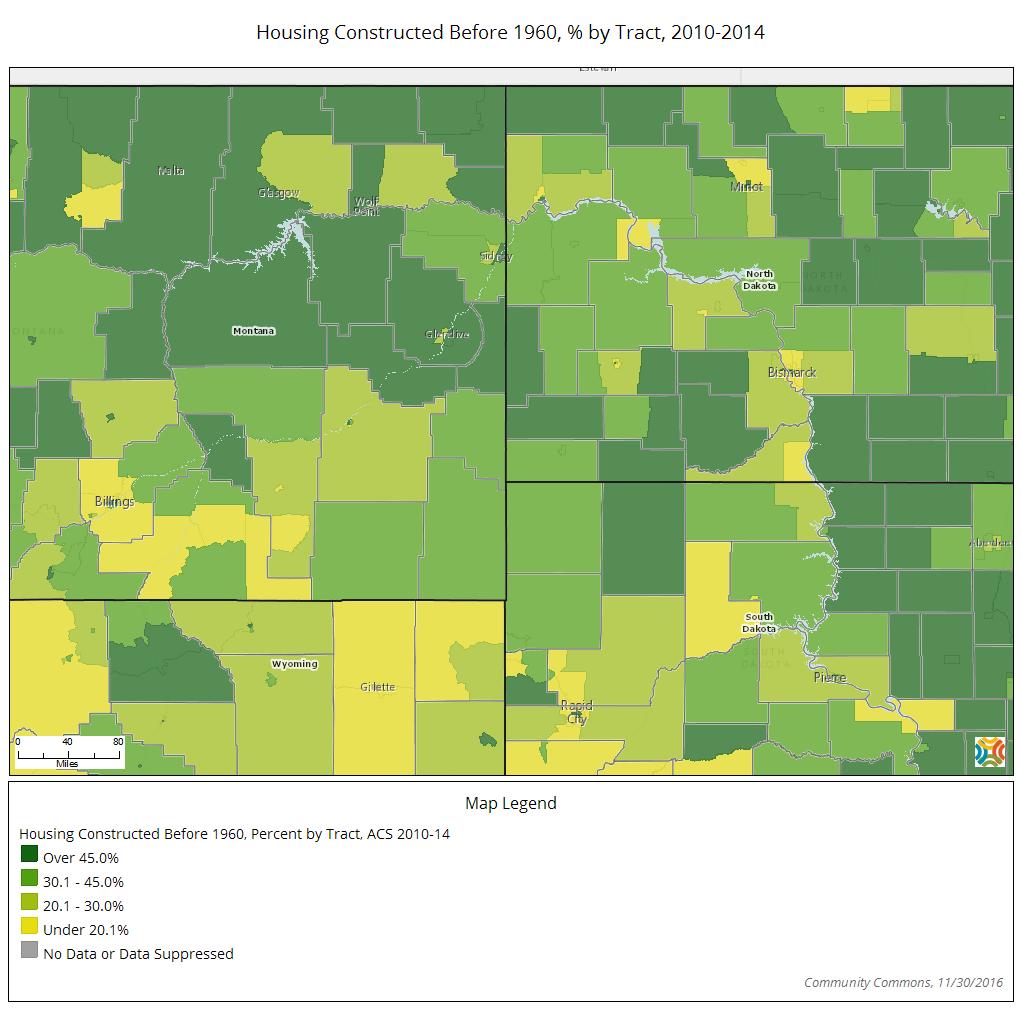Aging Housing map